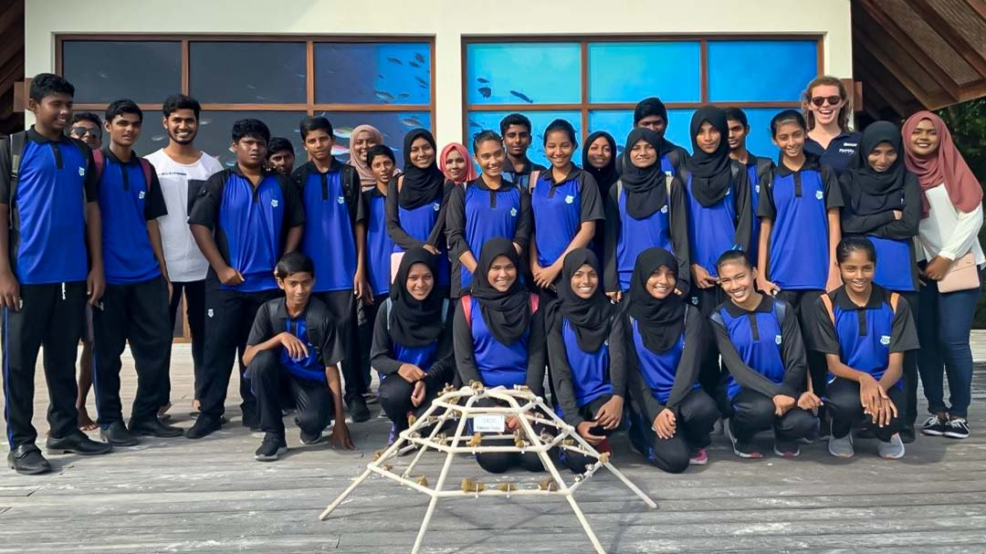 Reefscapers Kamadhoo school visit Marine Savers Maldives