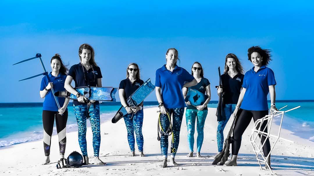 Iris - Marine Biology internship Maldives snorkel on reef