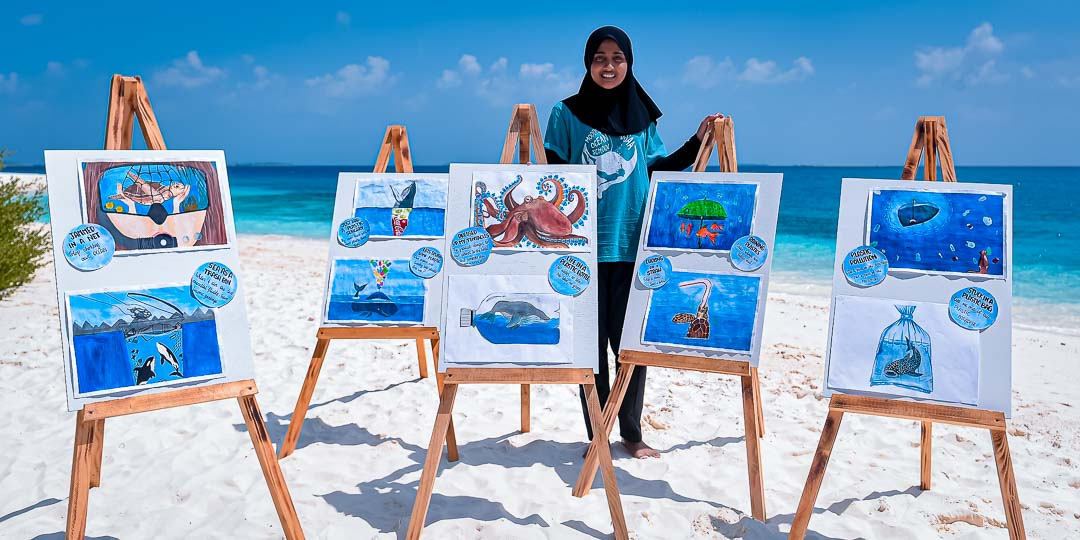Turtle Rehabilitation Maldives 10-year anniversary - Hazma's art exhibition