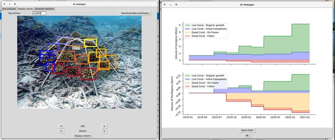 AI software data analysis coral propagation reef regeneration