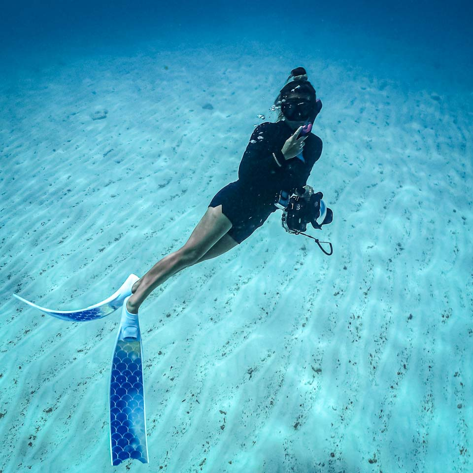 Margaux Reefscapers coral biologist Maldives free-diving