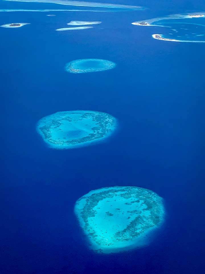 Margaux Reefscapers coral biologist Maldives aerial photo