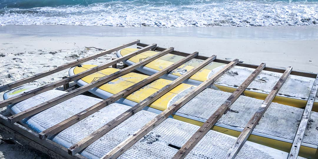 Margaux Reefscapers coral biologist Maldives - raft construction