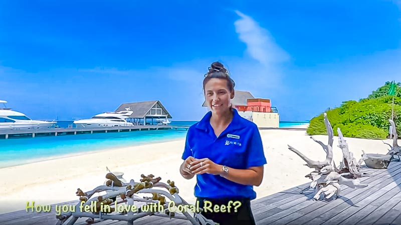 Margaux Reefscapers coral biologist Maldives - interview