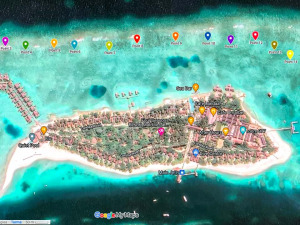 Reefscapers coral quadrat survey sites Maldives