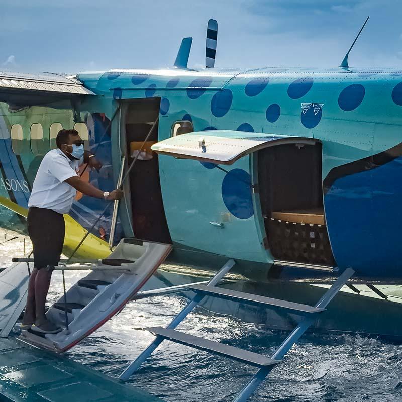 April turtle seaplane transfer Maldives